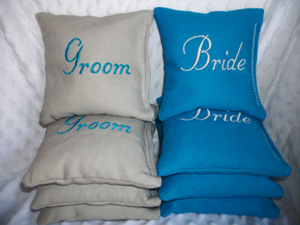 Bride Groom Cornhole Bag Giveaway