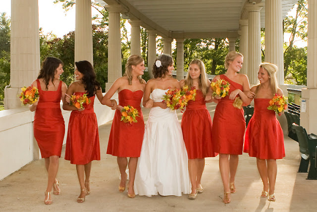 Same Color Diffe Dress Style Bridesmaids