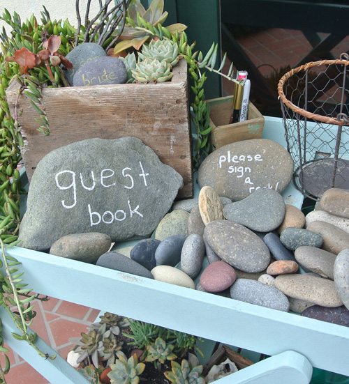 Rocks  Wedding Guest Book