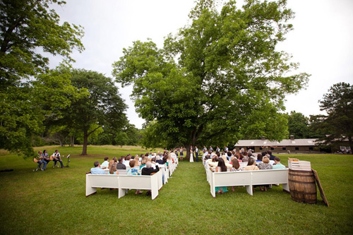 Rustic Wedding Ceremony at Vinewood Plantation Georgia