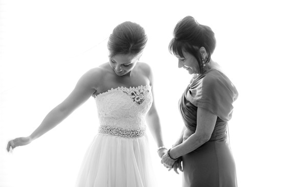 Mother & Bride pose
