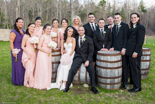 Vineyard Wedding - Wedding Party Pose