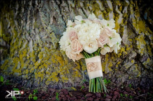 Beautiful Pink and White bridal bouquet