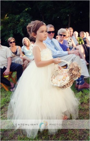 Flower Girl at Wedding Ceremony
