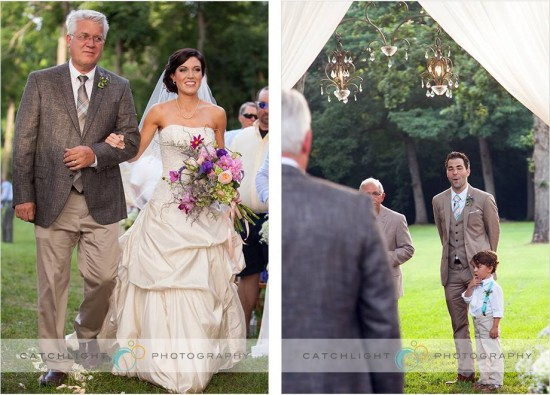 Bride and Father - Backyard Wedding