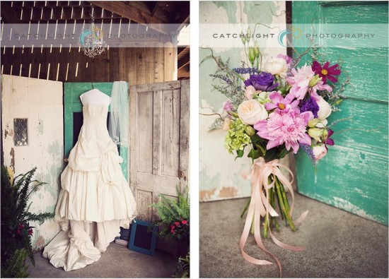Rustic Backyard Wedding Details