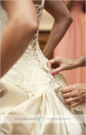 Brides dress details
