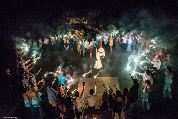 Sparkler Ending at Wedding