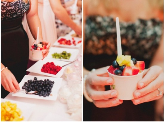 Frozen Yogurt Station at Wedding