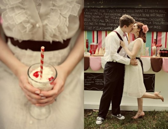 Milkshake Bar at Wedding