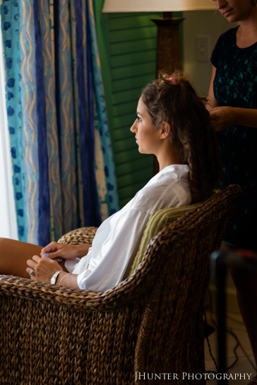 Bride Getting Ready - Hyatt Key West Wedding
