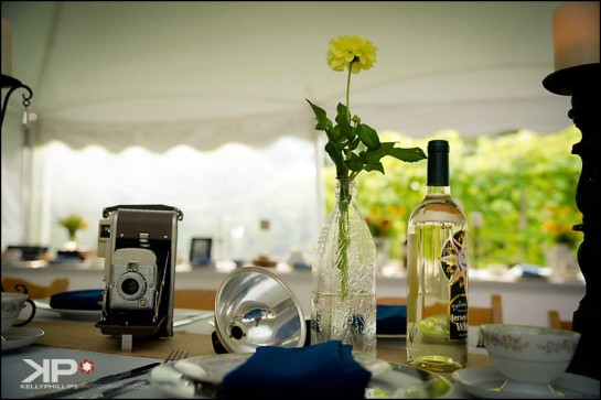 Table Settings Vineyard Wedding