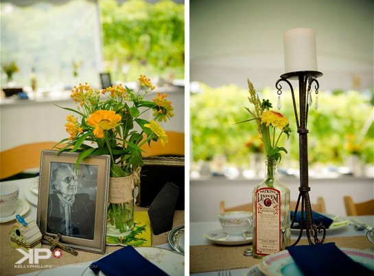 New Jersey Vineyard Wedding Centerpeices