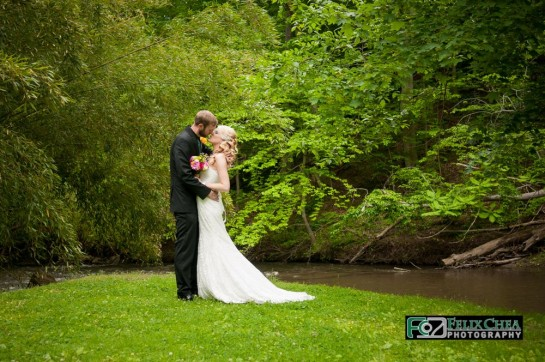 Bride & Groom at pennsylvania wedding