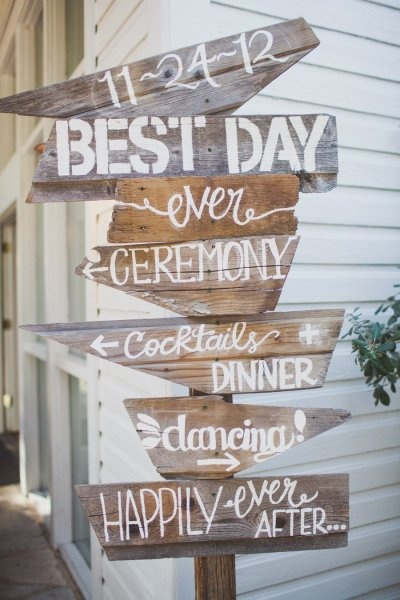 Wedding Sign Directions