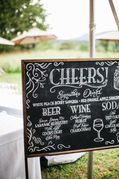 Wedding Sign Drink Menu