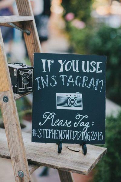 Wedding Sign Instagram