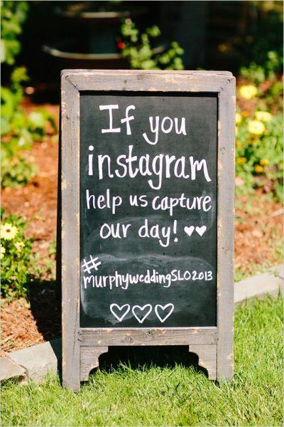 Wedding Sign Hashtag
