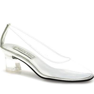glass wedding slippers