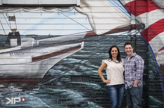 Engagement Photos in front of Bel Air Mural
